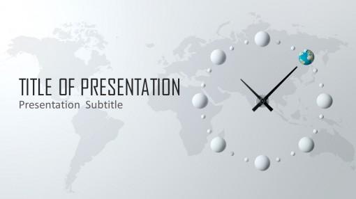 创意时钟时间管理商务ppt模板