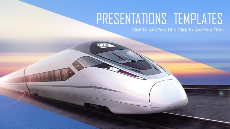 高铁动车交通运输ppt模板图片