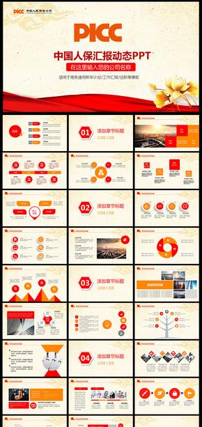 中国人保中国人民保险公司工作专用PPT  中国 人保 中国人民保险