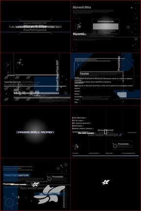 【祿宇】超級科幻炫酷拉風PPT模板