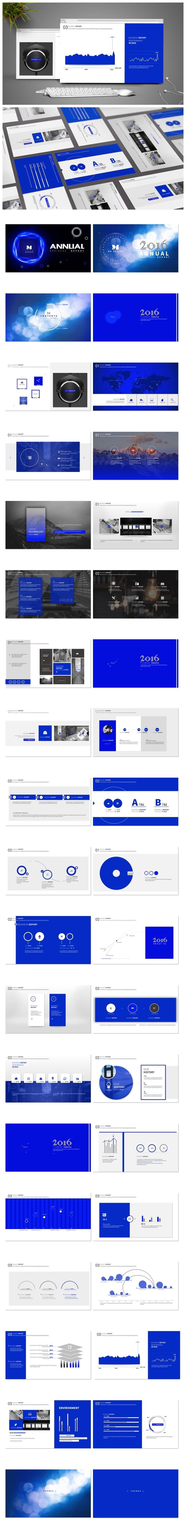 【极致之美】简约时尚商务实用设计《Royal Blue》-by momo