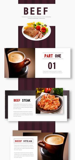 创意餐饮行业PPT模板设计(图片均可修改)