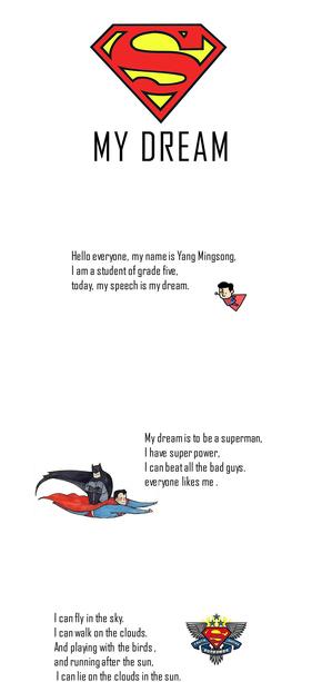 superman超人卡通英文ppt模板