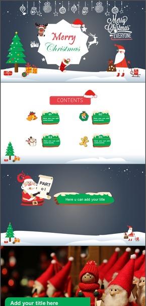 圣诞、晚会、活动、工作总结汇报模板