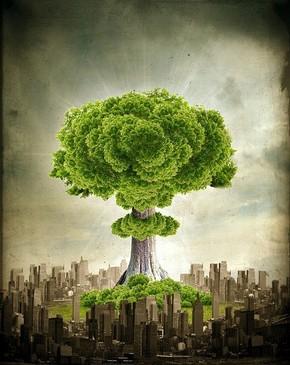 【海报分享计划】创意图片10-爆炸树