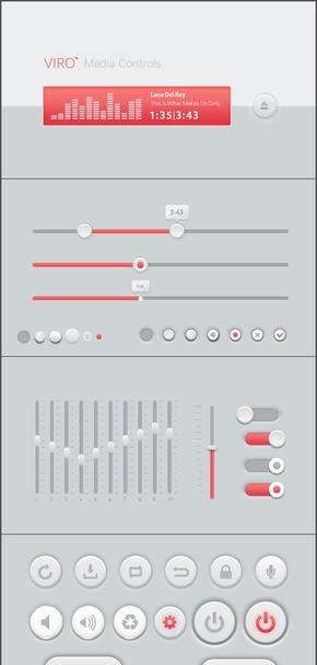 仿UI播放器素材(微立体风格)