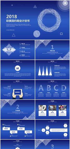 欧美风简约商业计划书(完整框架型)