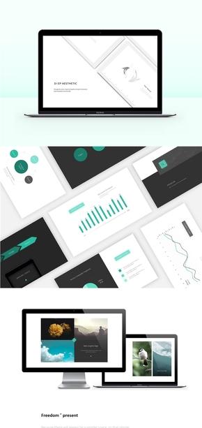 鲸须青简约美学工作汇报设计---[二三年]《视觉调和》