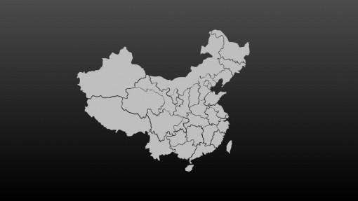 《中国地图》可编辑 - 演界网,中国首家演示设计交易