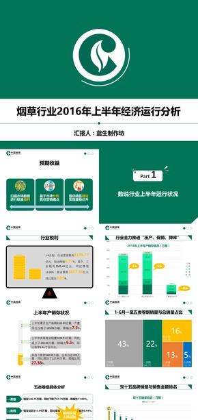 国企(烟草行业)2016年上半年运行状况分析报告 PPT