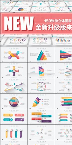 【逻辑图表系列】第一部150套精致微立体图表合集