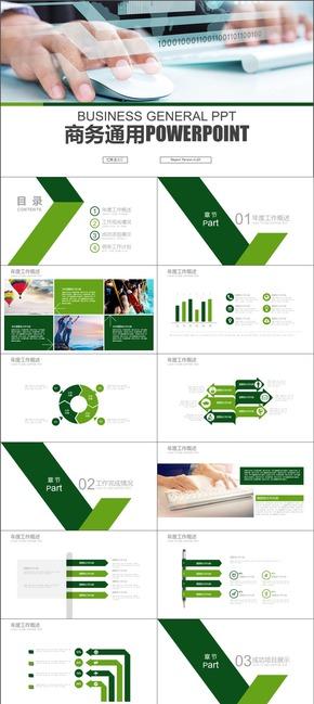 绿色简约商业融资投资计划书PPT模板