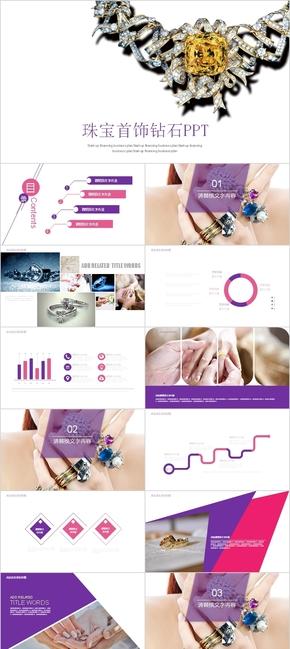 紫色奢华珠宝首饰产品加工商务商业融资投资计划书PPT模板