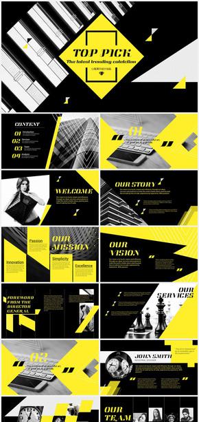 欧美时尚创意商务通用工作总结模板