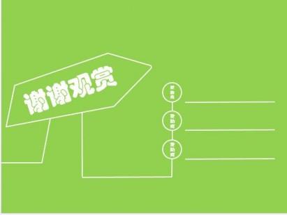 经典小清新绿色ppt结尾
