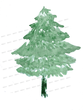 水彩-树[1图][透明背景][原创][可转售][可商用]
