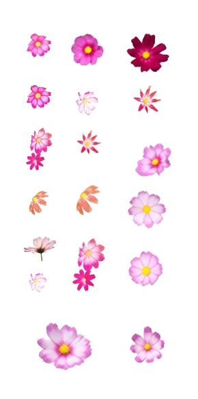 拟水彩花朵高清透明背景素材[18图][原创][可作为设计师素材][可商用]