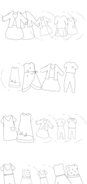 服装、手绘风[24图][透明背景][内含高清大图][原创][可转售][可商用]