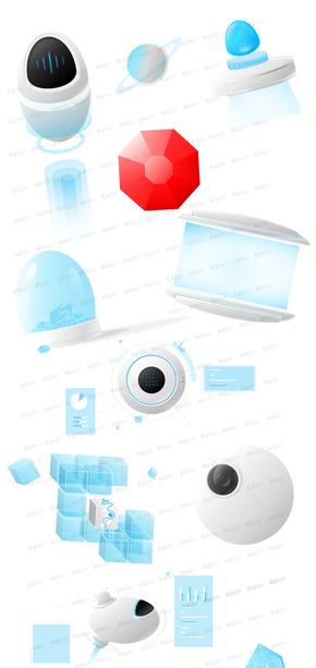 智能、高科技[24图][透明背景][原创][可转售][可商用]