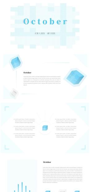 [1元特惠]简单、简约、极简、工作汇报、工作总结模版