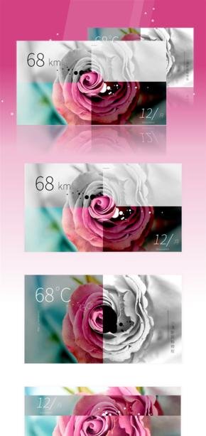 文艺、小清新、创意、极简、简约、唯美、玫瑰、模版