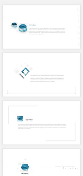 小清新、简约、极简、工作汇报、工作总结模版