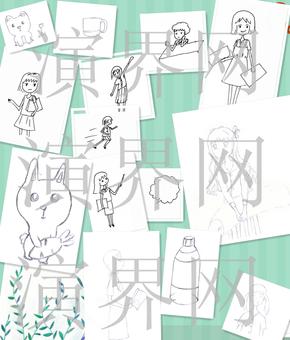 卡通手绘[可商用][原创][15图压缩包]