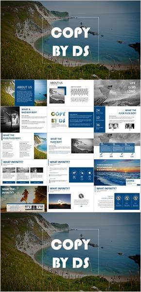 欧美大气扁平化高端设计排版简约通用商务汇报