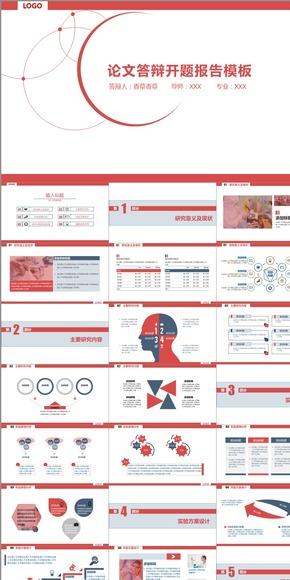 【香草PPT】红色石油能源化学实验类开题报告论文答辩PPT模板
