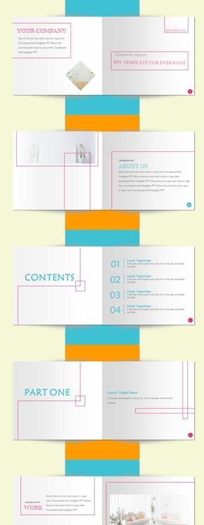 【香草PPT】创意悬浮立体蓝色商务GAP服装杂志年终总结新年计划广告策划项目简介家居服饰销售分析模板