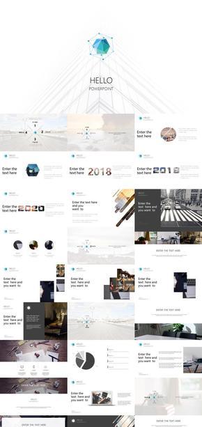 创意设计排版工作汇报ppt模板