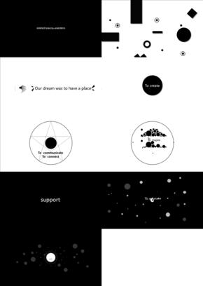 简约极简主义黑色小圆点动态特效模板