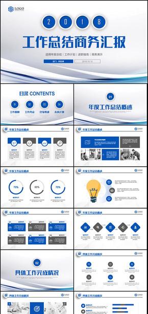 简约工作总结企业汇报商务计划2018商业计划书PPT