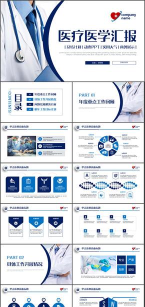医药医疗工作总结汇报PPT模板