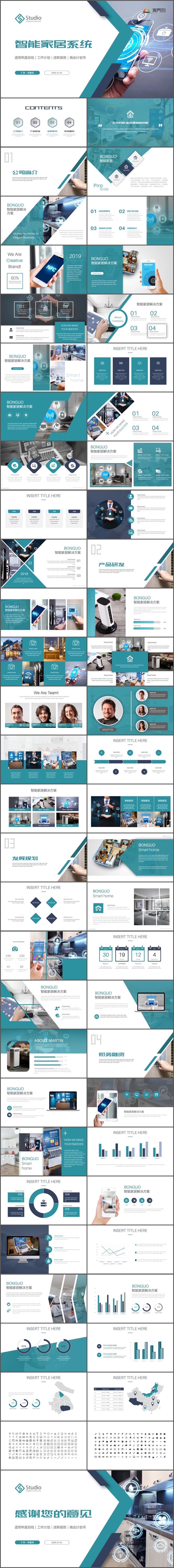 智能家居商业计划书PPT2019工作总结公司简介宣传