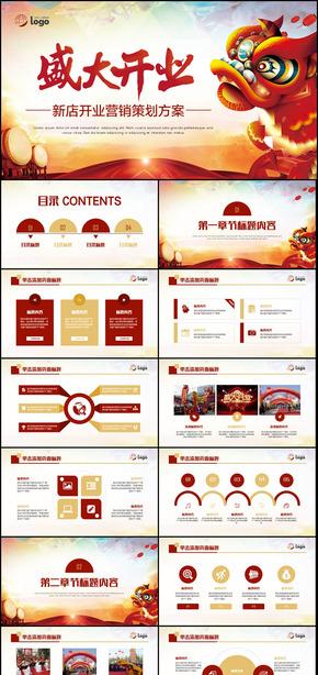 【盛大开业】新店开业活动营销策划市场推广方案PPT模板