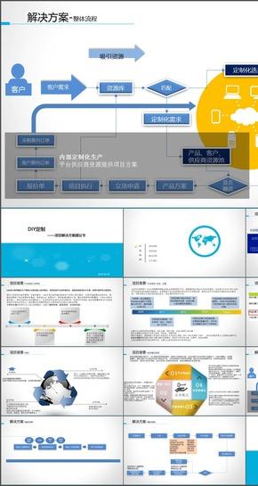 蓝色扁平化-众筹项目咨询方案