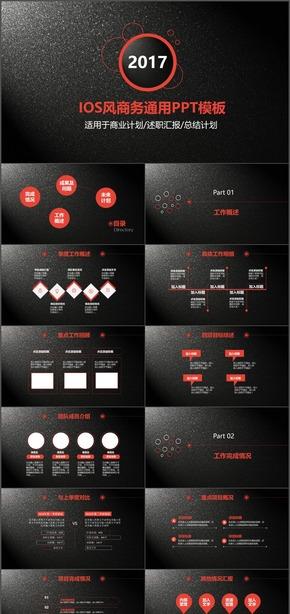 个性酷炫IOS风格商务通用PPT模板