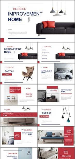 红白黑家装沙发家具时尚欧美简约杂志风