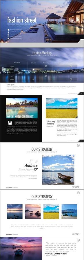 精品推荐|76页画册旅游景点介绍PPT动态模板