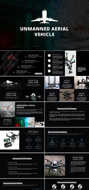 UAV无人机智能航拍摄影器材介绍PPT模板