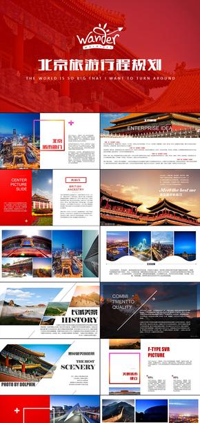 北京印象北京旅游攻略风土人情介绍PPT模板