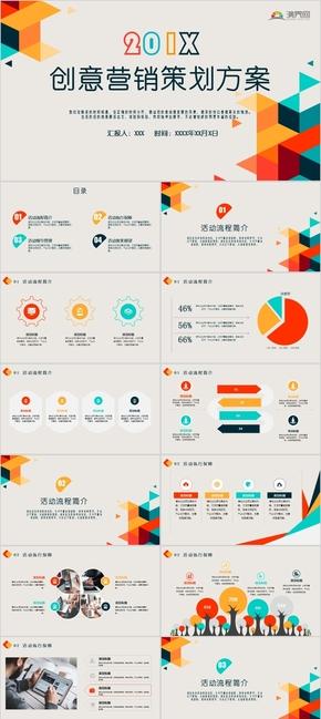 创意营销策划方案商务计划通用PPT模板