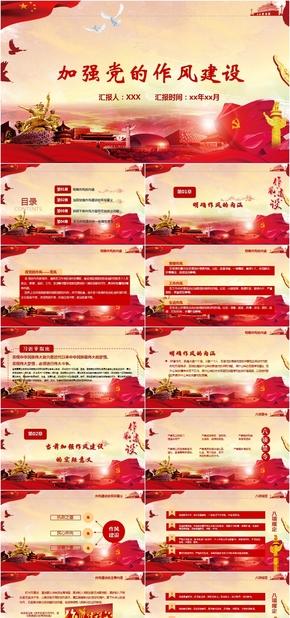 中国共产党作风建设培训学习PPT模板