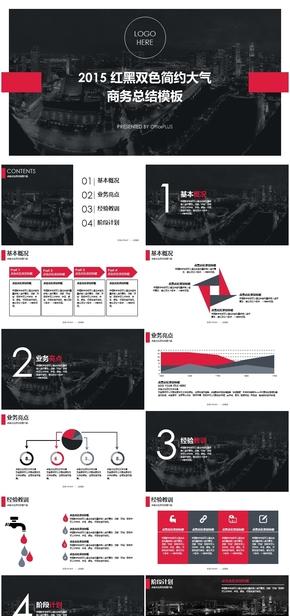 黑色高端大气通用实用PPT模板工作总结,计划总结,工作总结