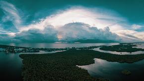 山水大背景天空云背景,风景背景图,海天背景图,PPT背景图