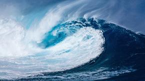 波, 大西洋, 太平洋, 海洋, 巨大, 大, 蓝色