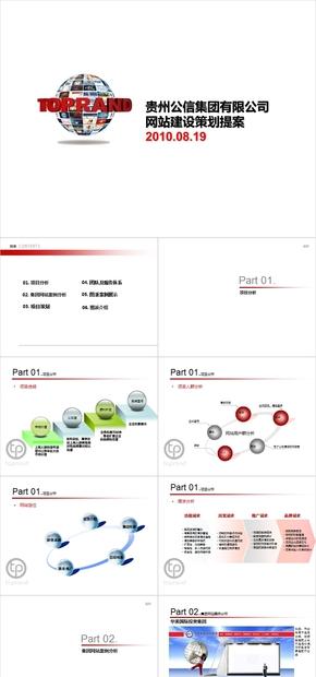 集团网站建设提案,客户方案,解决方案报告,演示报告,提案书