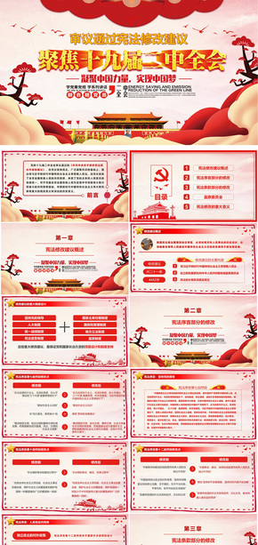 新宪法修改建议学习PPT模板