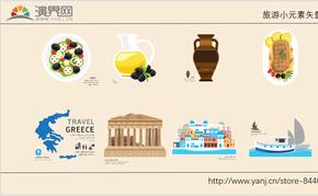 78例蓝黄色调MG网页卡通多种风格用于旅游UI教育行业矢量素材和图标